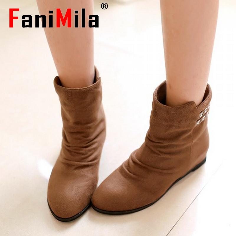 women falt half short ankle boots bohemia fashion winter bota cotton warm footwear boot quality feminina shoes P20080 size 35-39