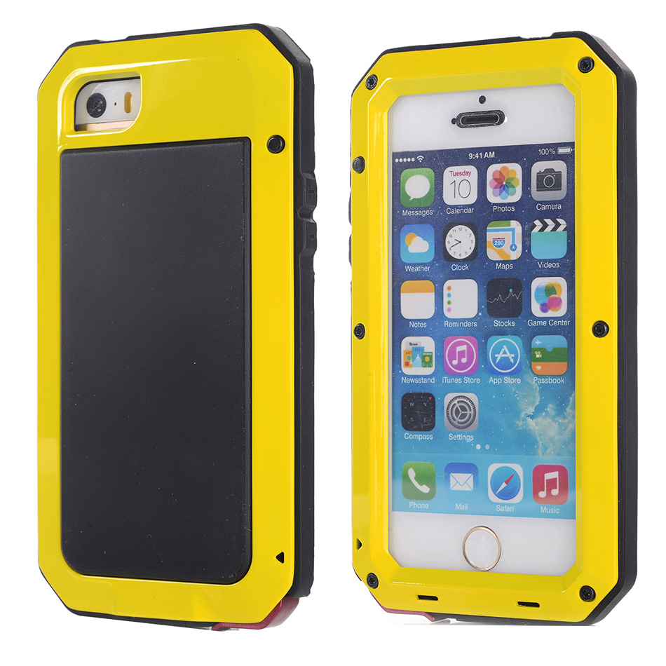 Case For Apple iPhone 5 / 5S / SE Luxury Shockproof Waterproof with Gorilla Glass Aluminum Metal Full Body Armor Cover(China (Mainland))