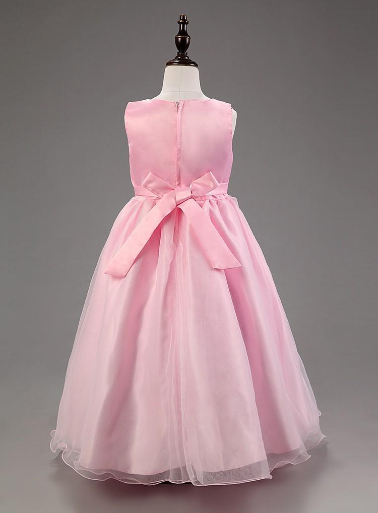 Скидки на 2015 дешевые летние девушки одеваются для свадьбы шифон принцессы детскую одежду дети одеваются дети одеваются размер 2 - 16 лет