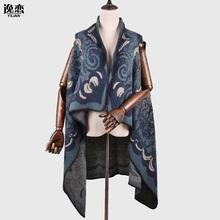 YI LIAN Brand Shawl New 6 Colors Elegant Women Poncho Scarf Smooth Touch Designer Chic Flower Long Designer Shawl JB003(China (Mainland))