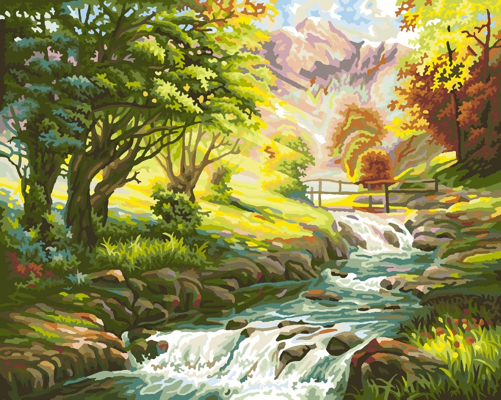 Fairyland--2016 Hot Sale DIY digital oil painting by numbers free shipping home decoration wall art 16 x 20 Inch(China (Mainland))