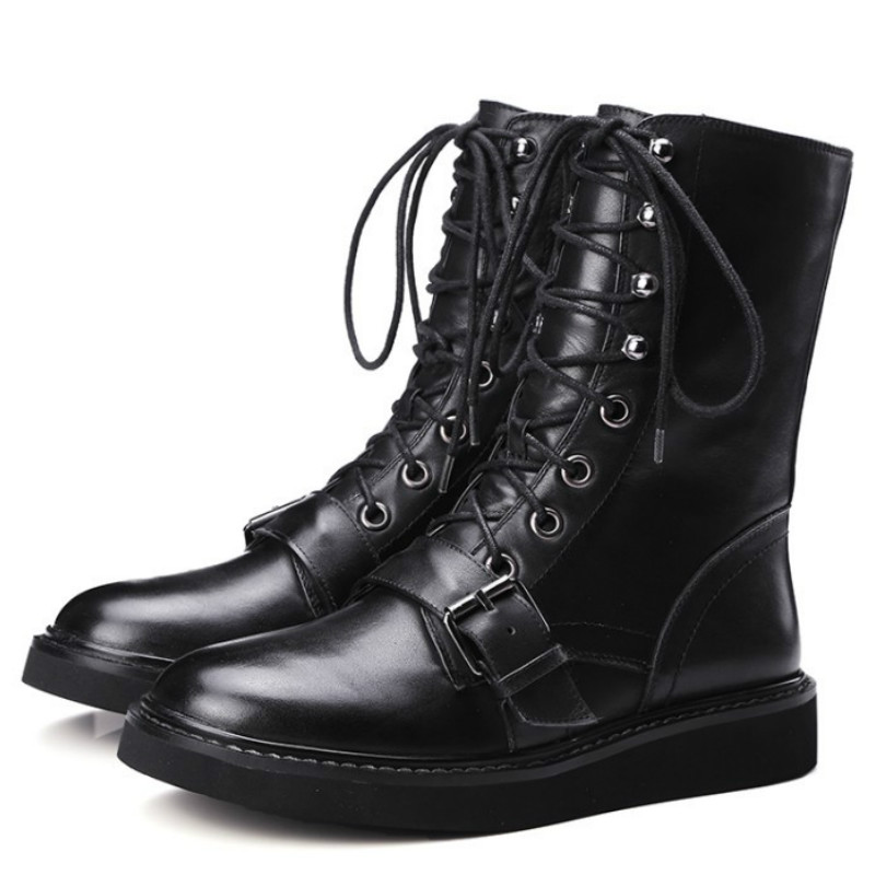 Ladies designer motorcycle boots
