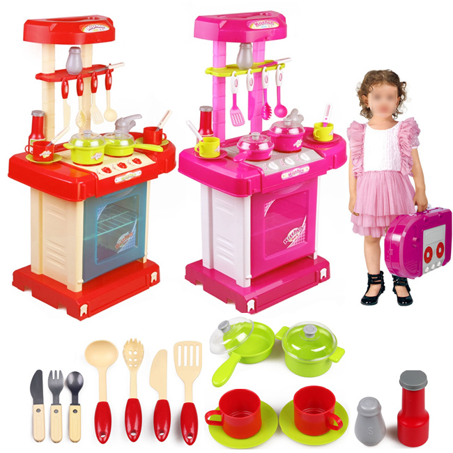 Wholesale retail new safe plastic toys children 39 s kids own for Cheap childrens kitchen sets