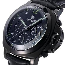 100% cuero genuino de cuarzo relojes resistente al agua función calendario multifuncional pequeña obra de línea, relojes de hombre 2015, Reloj