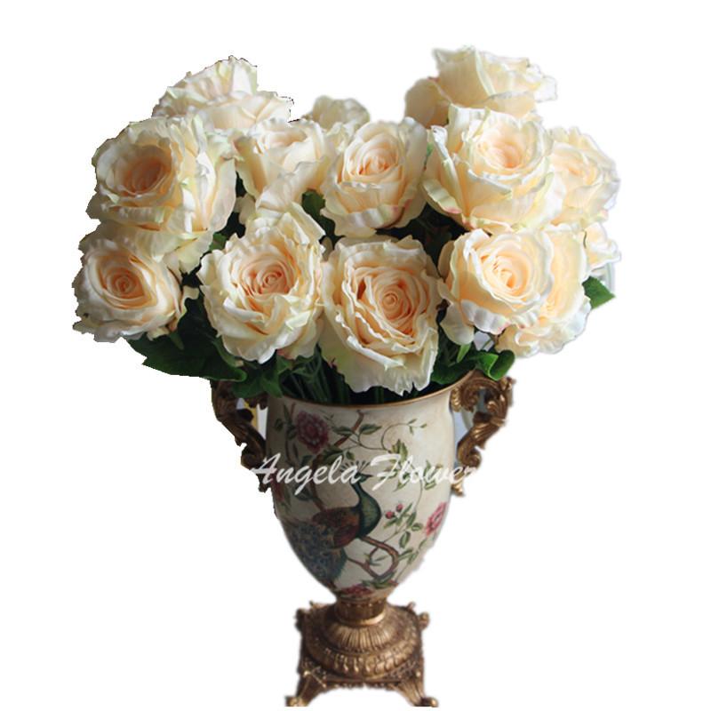 Beautiful 7 Heads/bouquet palace emperor Rose silk flower peony bouquet wedding decoration artificial flower(China (Mainland))