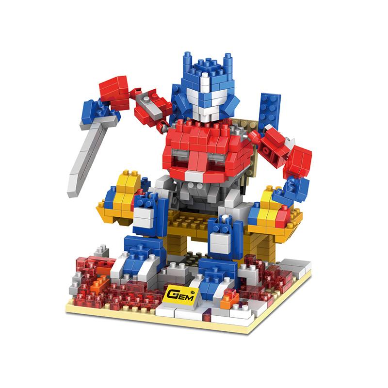 Optimus Prime Action Figures Transformation Car Robots Model Mini Assembled DIY Toys Gift For Children ABS Nano Blocks
