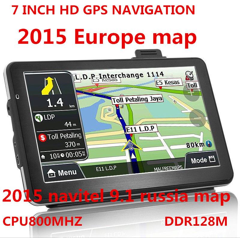 7 дюймов HD автомобиль грузовик навигатор GPS 800 мгц FM / 4 гб / DDR 128 M карты россия / беларусь / казахстан европа / сша + канада грузовик