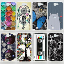 Case For Samsung Galaxy Note2 Note 3 Note4 Note 5 Transparent Coloured Drawing Phone Plastic Cover For Samsung Galaxy Note 2 (China (Mainland))