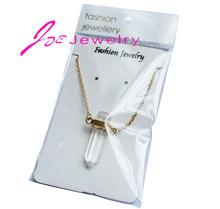 DIY Raw quartz necklaces natural stone transparent crystal necklaces manual sewing fine jewlery Reiki Healing Pendant