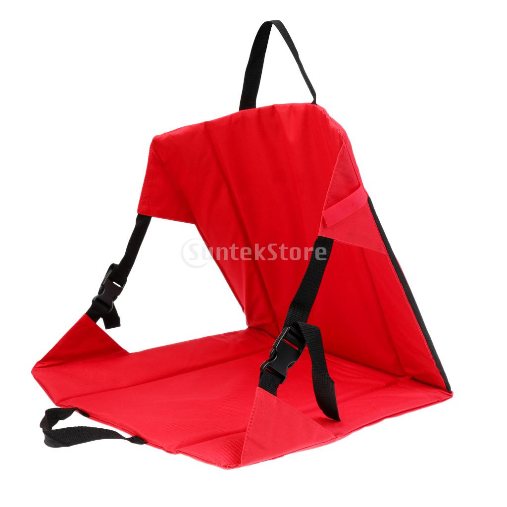 Folding Portable Padded Moisture-proof Chair Seat Cushion Back Support Pad for Stadium Bleacher Football Sports Camping Picnic