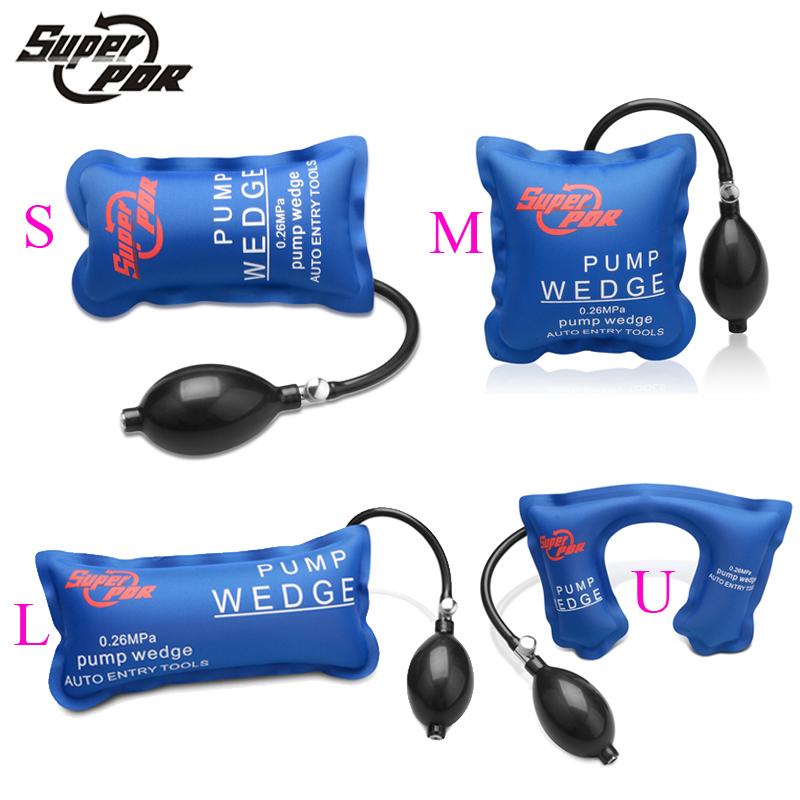 PDR tools Pump Wedge Locksmith Tools Auto Air Wedge Airbag Lock Pick Set Open Car Door Lock Hand Tools 4 model 1 set(China (Mainland))