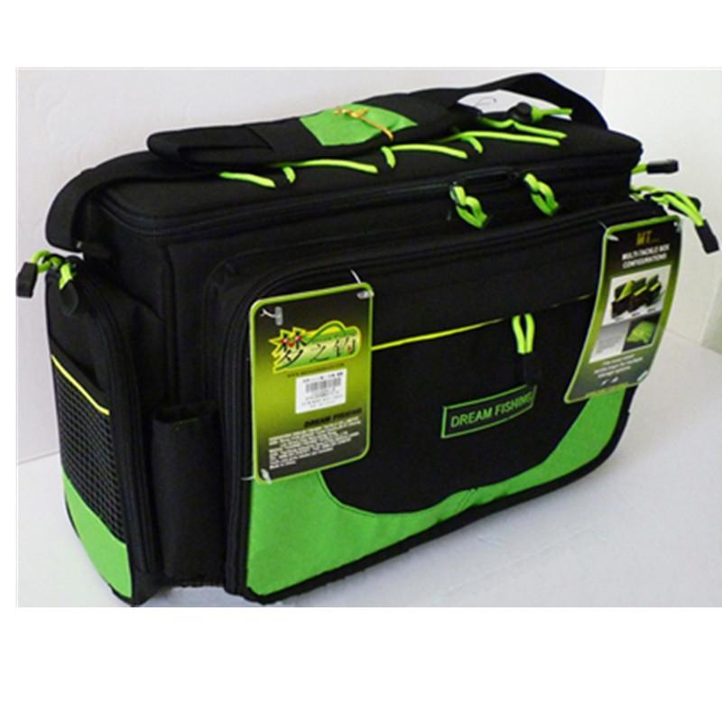 Waterproof fishing bag 2layer 45x15x25cm multifunctional for Fishing backpack tackle bag