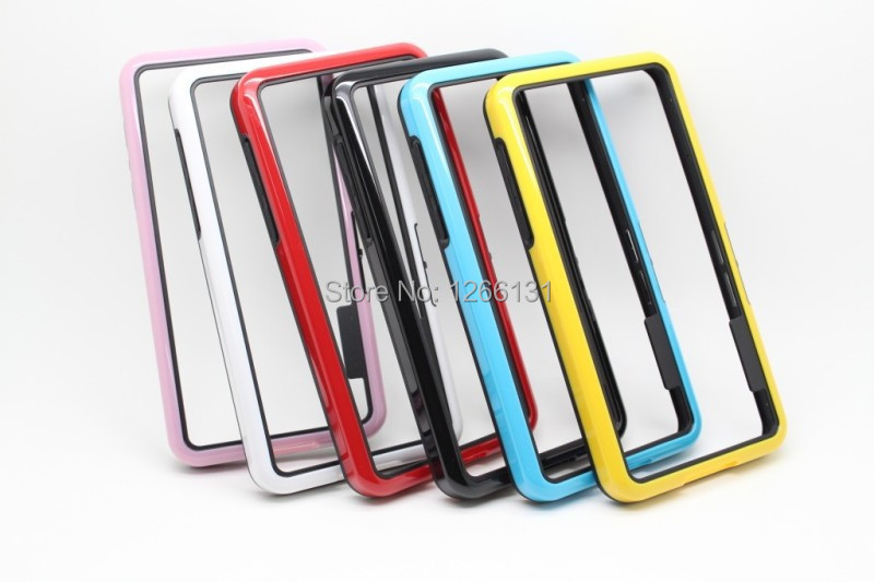 Hot Fashion Newest Dowble Color Frame Shell Super Soft TPU PC Double Color Soft Cover Bordor Case For BlackBerry Z10 BB10(China (Mainland))