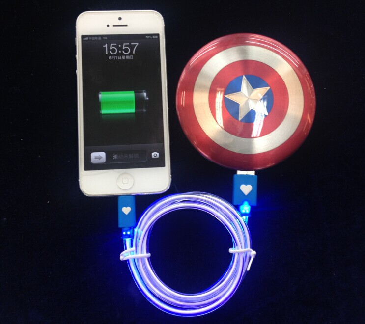 New Arrival Cool Portable Power Bank 6800mAh The Avengers Captain America Shield Charger Mobile Power Supply Universal PowerBank(China (Mainland))