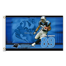 89 Steve Smith Carolina Panthers Flags Football Team 3ft x 5ft Banners Super Bowl Champions Banner Polyester Panther Banner(China (Mainland))