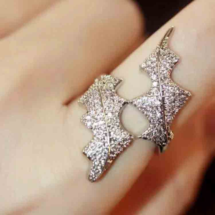 Haute couture brand monaco designer accessories complete pebbles unique fashion single ring finger joint algae for women(China (Mainland))