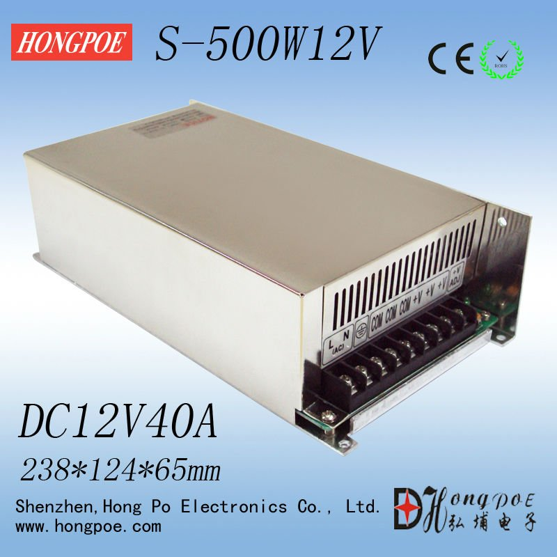 HongPoe S-500-12 Weak security systems focus on power supply,DC12V40A<br><br>Aliexpress
