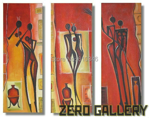 Promote modern large spain abstract dancer oil painting western canvas art african style tableau for Peinture moderne