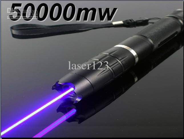 Aliexpress- - laser-- stronger 50000mw 50W 450nm blue laser pointers burn match balloon dry wood+5caps+free(China (Mainland))