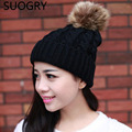 Fashion 2016 Autumn And Winter Female Hats Hot Selling The Knitting Ball Wool Cap Hat Casual