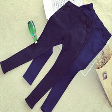 2015 New Fall Winter Womens Plus Size Thick Fleece Jeans Elastic Denim Leggings Warm Jeggings Slanting Pocket Pencil Pants Women(China (Mainland))
