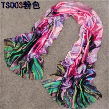 160*50cm 2015 New  Fashion Pretty Multicolor Women's  Long  Faux Silk Scarf