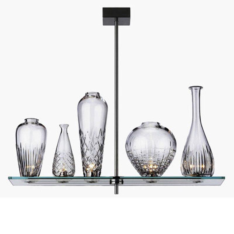 2015 Cheap New Cicatrices De Luxe Modern Brief Style 5PCS One Set Decorative Restaurant Glass Oil Bottle Pendant Light(China (Mainland))