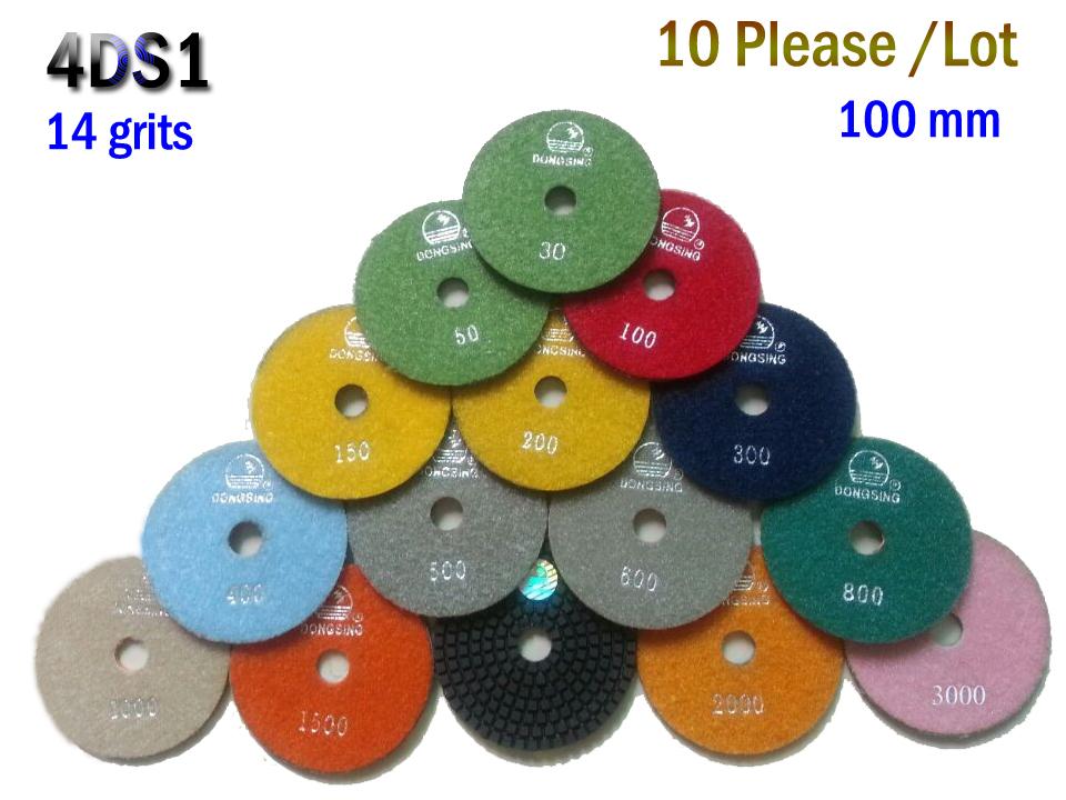 "4DS1 Free shipping 10 pcs/lot 4"" 30# -3000# Wet Polishing Pads/polished pad granite/grinding wheels diamond tool(China (Mainland))"