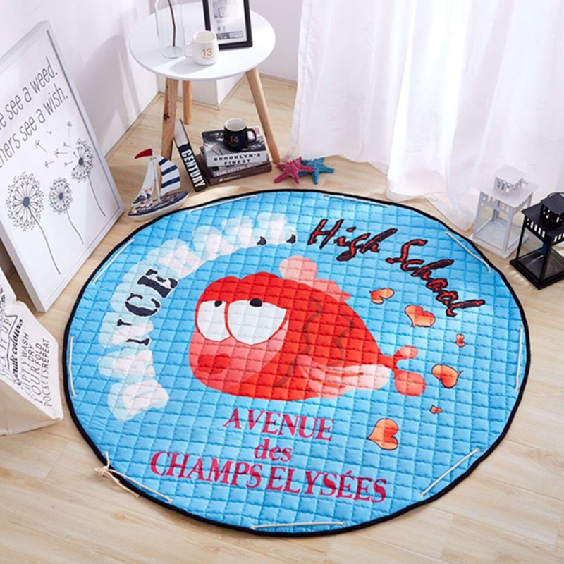 red cartoon fish Toy Storage Bag diameter 1.5m baby Crawling multifunctional round blanket Play Rug/Mat/Carpet(China (Mainland))