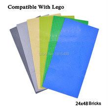 Дети DIY Игрушки Аниме Мини Цифры Lego Совместимые Кирпичи Пластиковые Builidng Блоков 19X38 СМ Плиты Развивающие Игрушки Для дети