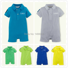 NEW Arrival! 11 Colors Brand 2015 Summer Short-Sleeved Baby Romper Colorful Infant Rompers Boys and Girls Romper Kids Jumpsuits(China (Mainland))