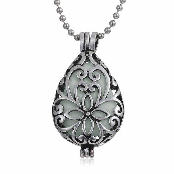 Luxury Glowing statement necklace Steampunk Water-drop Luminous multi layer necklace gold Large Locket Women Jewelry Pendants(China (Mainland))