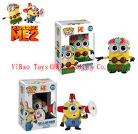 "4"" 10cm Funko POP Despicable me Hula Minion and Fire Alarm Minion PVC Action Figure Toys Gift For Childrens"