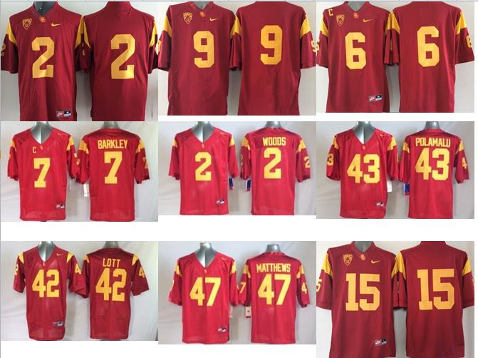 NO-1 New Arrivals Free shipping Best quality USC Trojans all players 23 style size S-XXXL(China (Mainland))