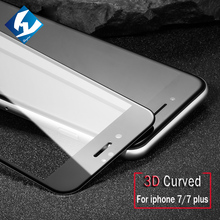 For NEW iphone7 2016 3D 9H Full Screen Coverage Tempered Glass For iphone 7 A1778 Screen Protector Film 4.7inch Glass Protective