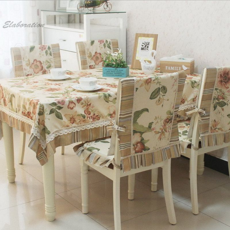 New Round Table Cloth Cotton Linen tablecloth Floral Print Lace Patchwork Mantele Table Cover Dinner Coffee Nappe Chair Cover(China (Mainland))