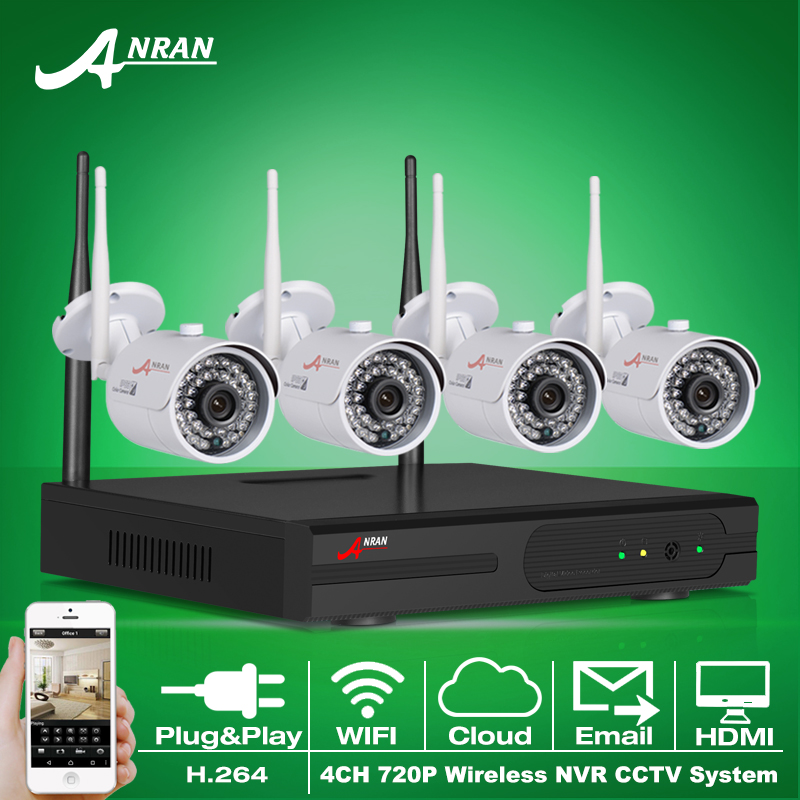 Plug And Play 4CH Camera Surveillance System 1TB HDD Wireless NVR Kit P2P 720P HD H.264 IR IP Outdoor Security CCTV Camera(China (Mainland))