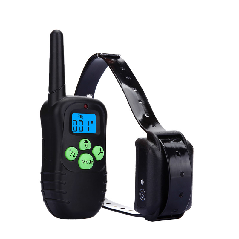 Shock Control Dog Training Collar with blue LED Backlight Rechargeable LCD Remote for 1 dog(China (Mainland))