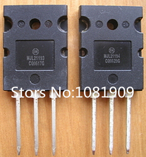 Free Shipping 10pair/lot MJL21193 MJL21194 TO-3PL,16 Power AMPERE COMPLEMENTARY SILICON POWER brand new