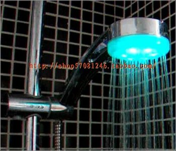 Free shipping Wall-mounted colorful bulbs light glitters LED shower