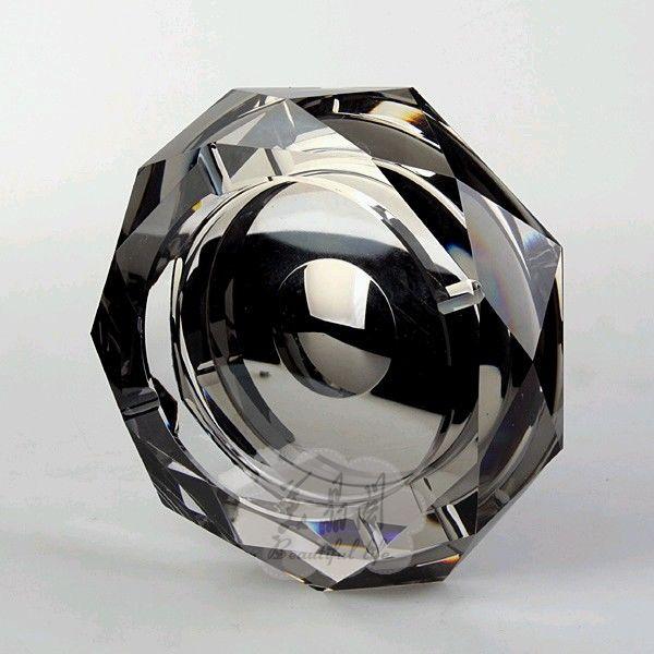 Fashion crystal ashtray personalized Large cylinder brief birthday(China (Mainland))
