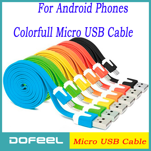 Promotion Colorful Micro USB Cable V8 100CM Date Sync Charger Cable for Sumsung Galaxy S5 i9500 N7100 HTC Lenovo Huawei ZTE MX4(China (Mainland))