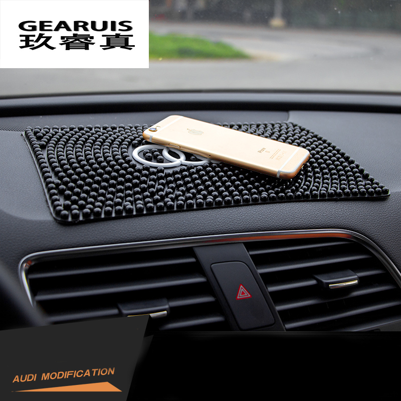 silica gel car anti slip mat cellphone holder phone for audi a1 a3 a4 a6 a8 q3 q5 q7. Black Bedroom Furniture Sets. Home Design Ideas