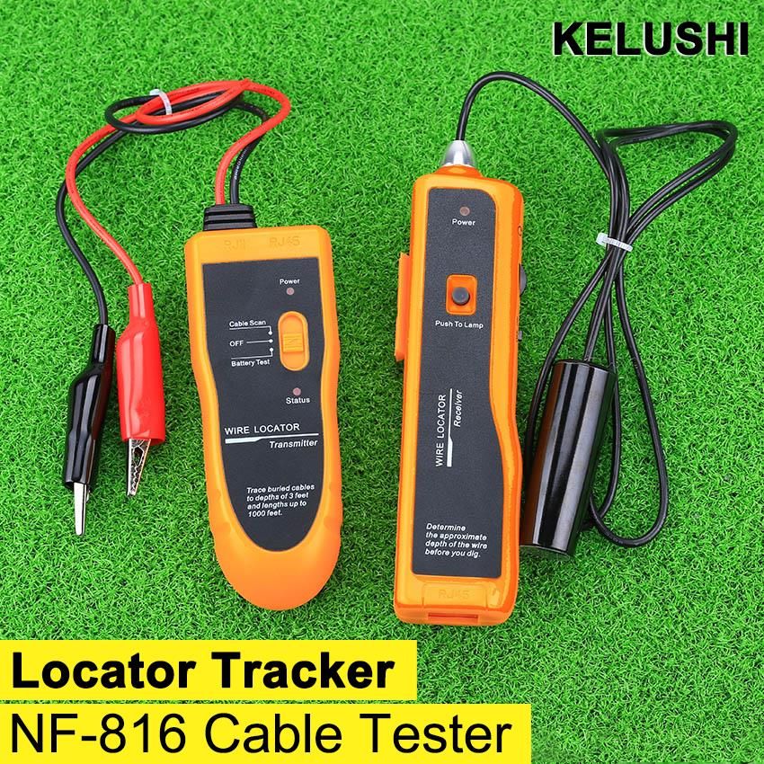 RJ11 RJ45 Cat5 Cat6 NF-816 Hot Sale Underground Telephone Ethernet UTP FTP LAN Network Cable Wire Tracker Tester Finder(China (Mainland))