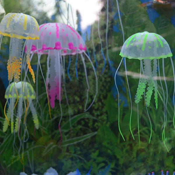 New Glowing Effect Jellyfish For Aquarium Fish Jar Tank Ornament Swim Decoration (China (Mainland))