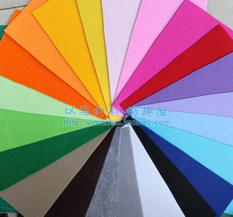 2mm Thickness Non Woven Fabric Felt 15 X 30cm Felt Fabric For DIY Project Eco-friendly 22 Color Free Shipping(China (Mainland))