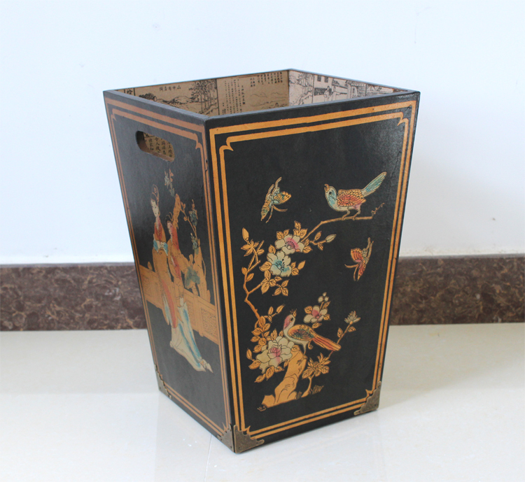 Antique furniture, office furniture, antique Ming and Qing furniture and paintings wastebasket trash barrel storage reel black m(China (Mainland))