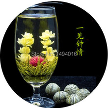 Promotion 5pcs Different chinese blooming flower tea 35g chinese ball artistic tea health and natural flower