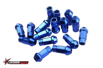 Forged 7075 Aluminum Lug Nuts P 1.5 / 1.25 L:50mm without any logo