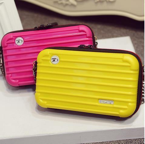 Дизайн ретро mini чемодан молния mini сцепление портмоне бумажник цепь сумка-мессенджер сумочка наплечная сумка 9 цветов